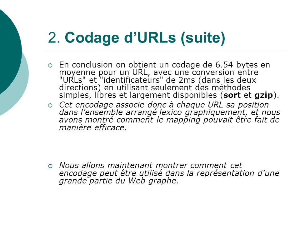 2. Codage d'URLs (suite)