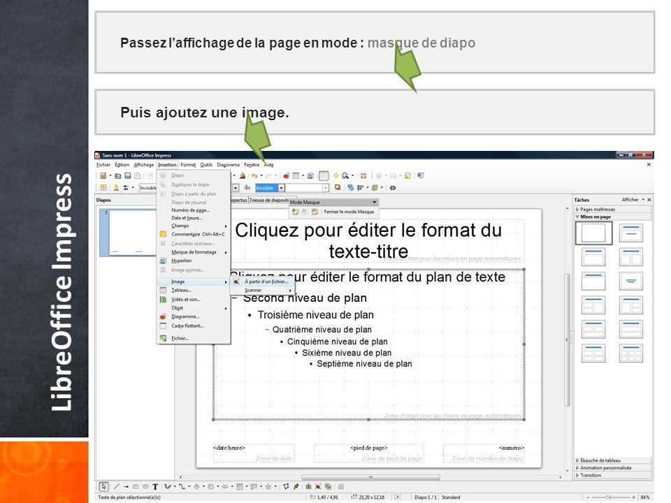 LibreOffice Impress Puis ajoutez une image.
