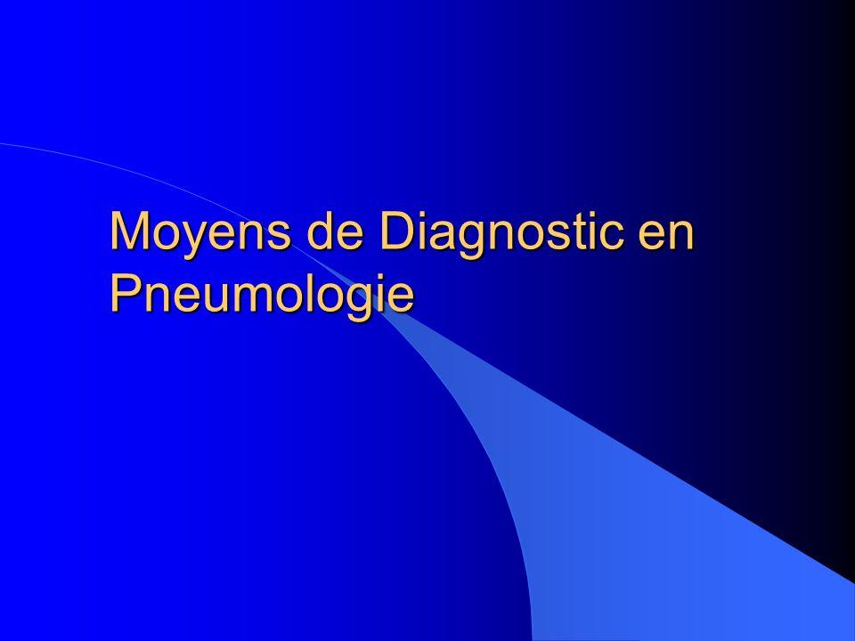 Moyens de Diagnostic en Pneumologie