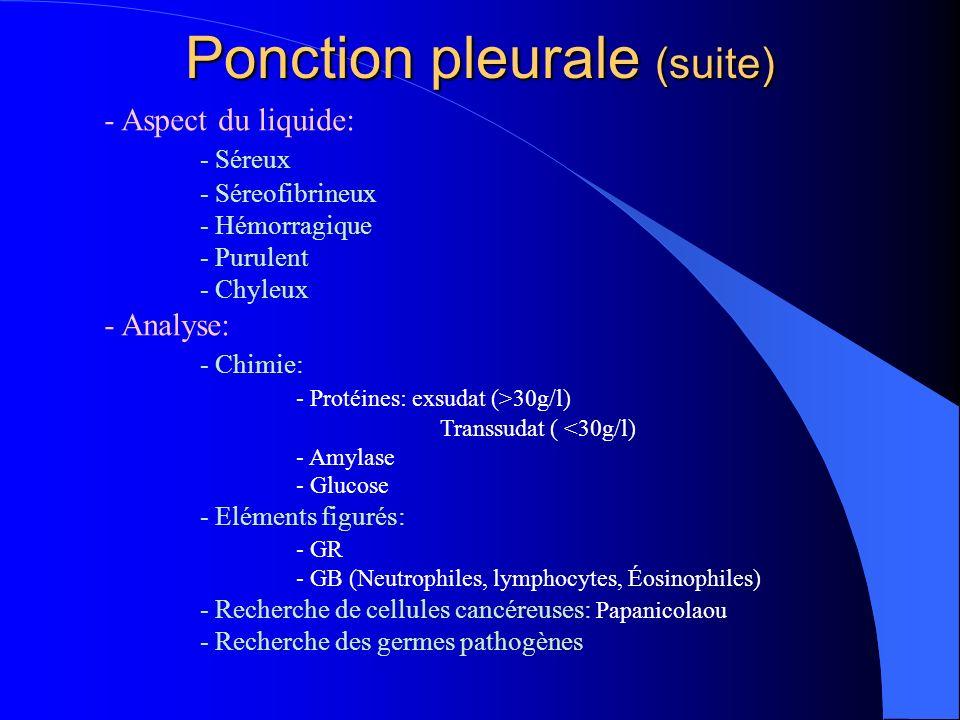 Ponction pleurale (suite)