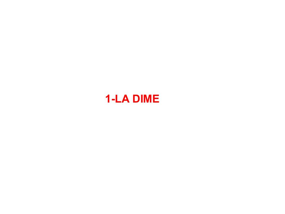1-LA DIME