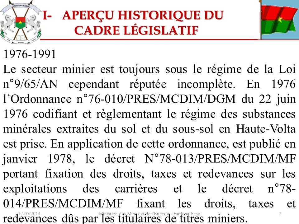 Ministère des Mines et de l Energie - Burkina Faso