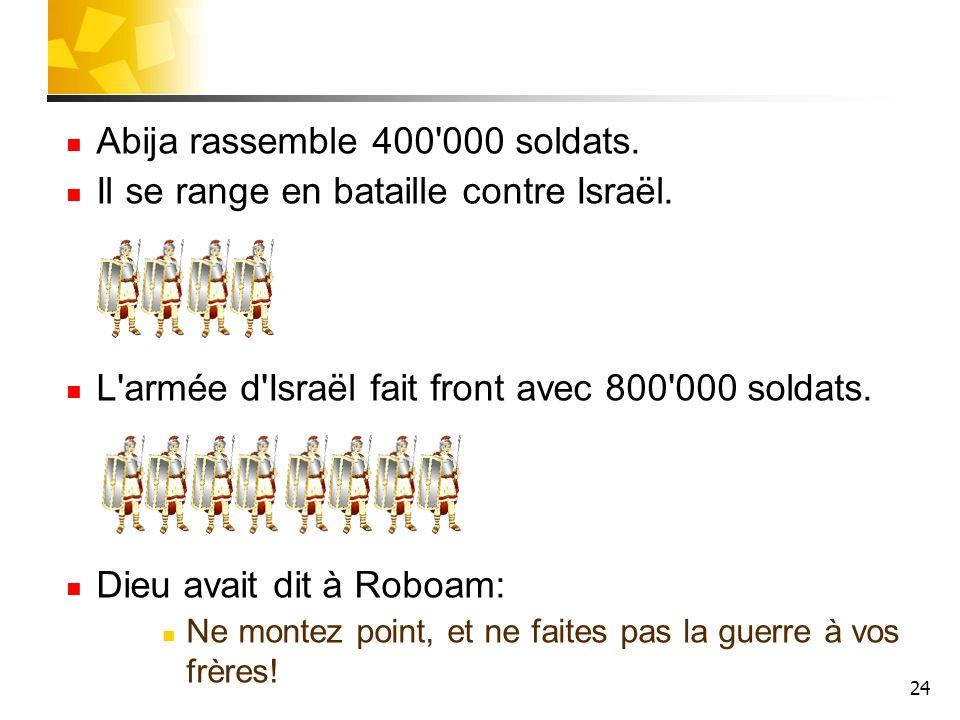 Abija rassemble 400 000 soldats.