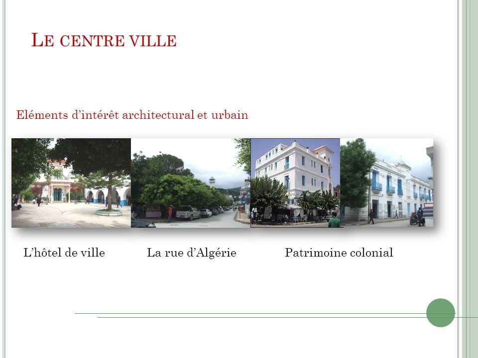 Le centre ville Eléments d'intérêt architectural et urbain