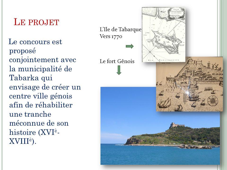 Le projet L'Ile de Tabarque. Vers 1770.