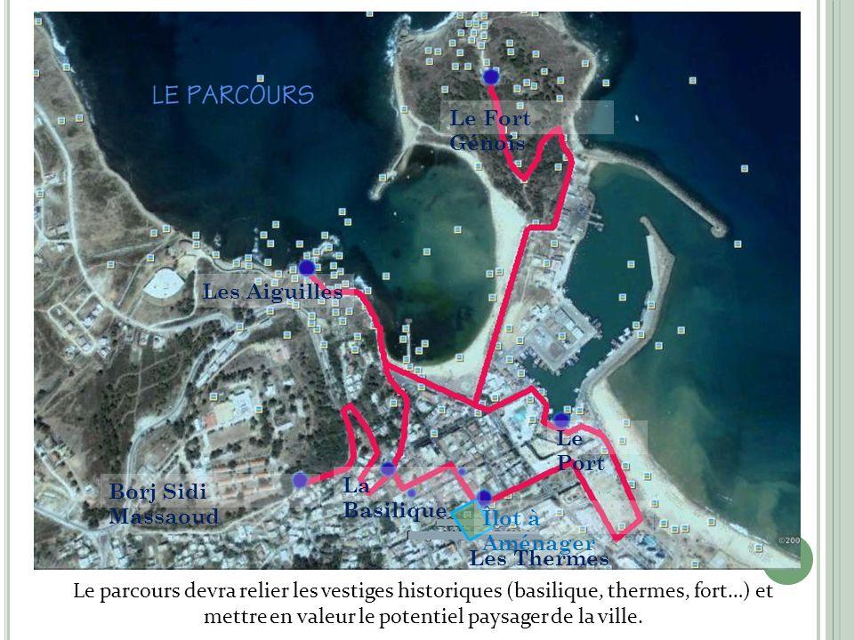 Le parcours Le Fort Génois Les Aiguilles Le Port La Basilique