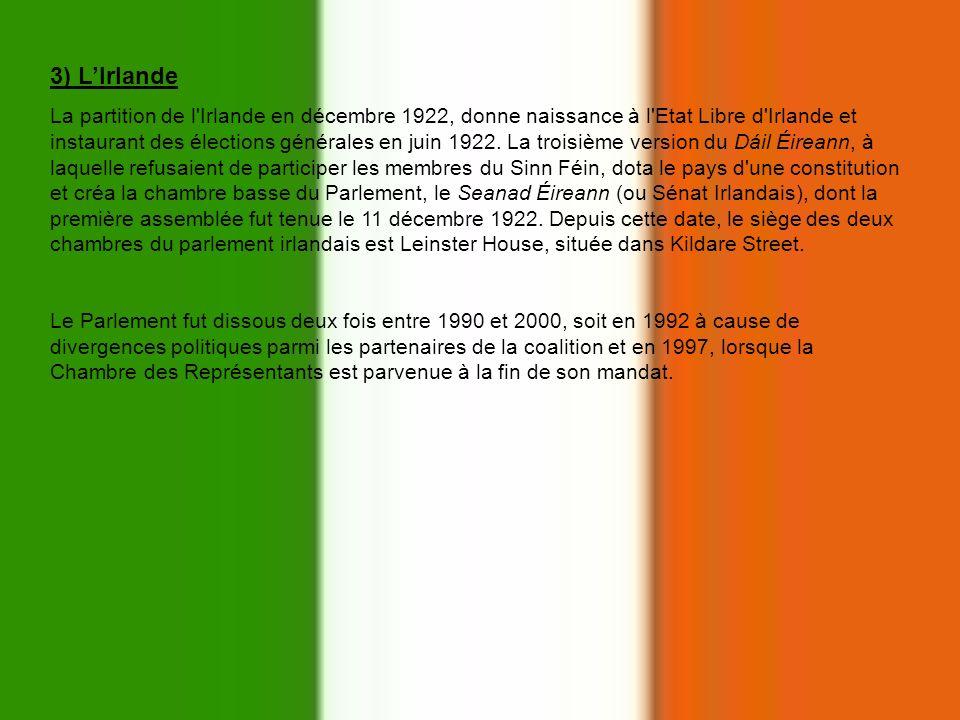 3) L'Irlande