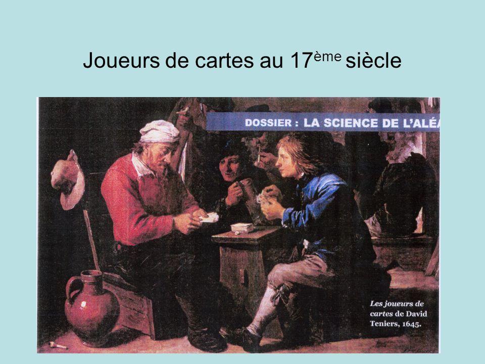 Joueurs de cartes au 17ème siècle