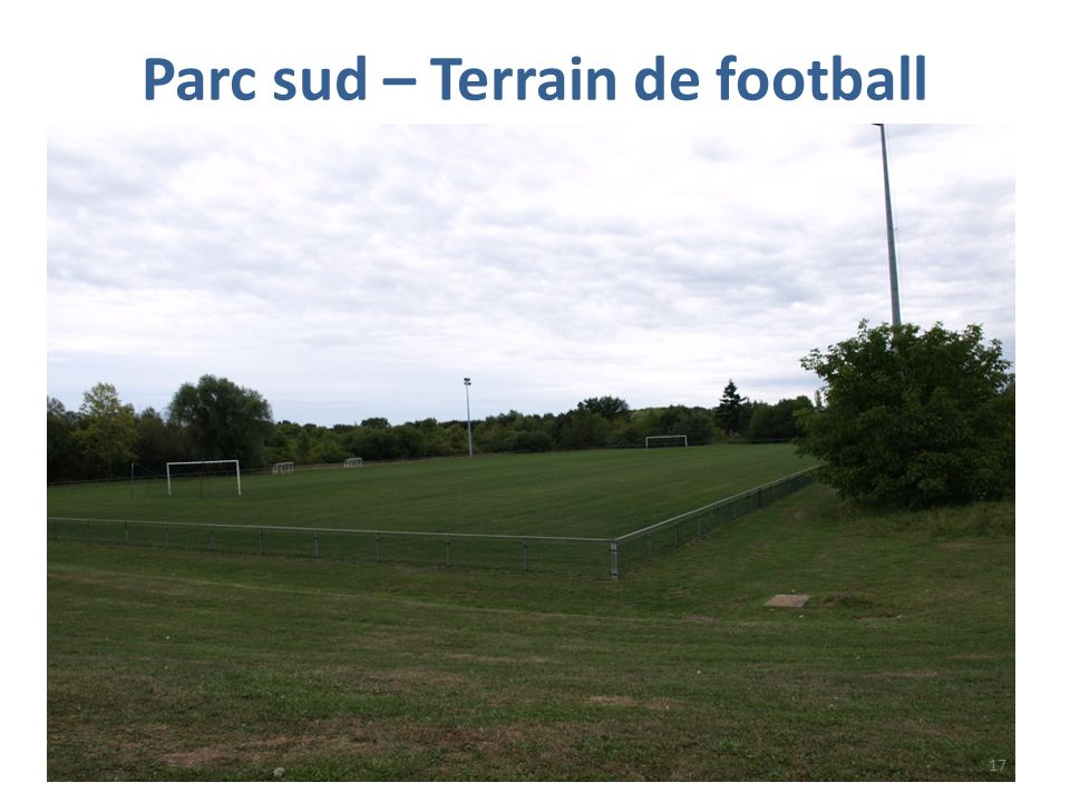 Parc sud – Terrain de football