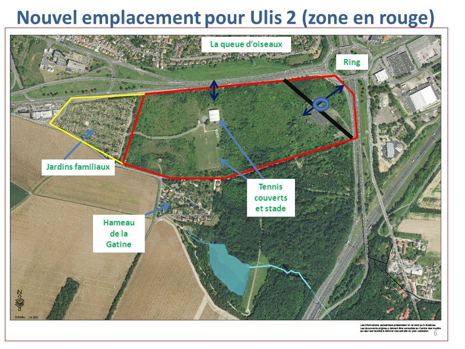 Nouvel emplacement pour Ulis 2 (zone en rouge)