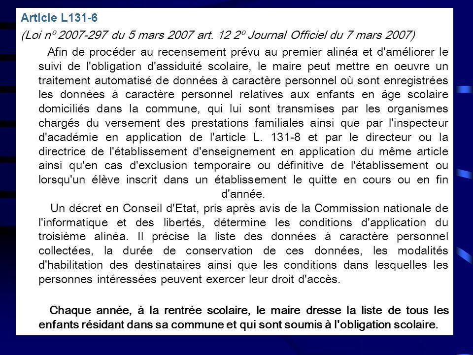 Article L131-6 (Loi nº 2007-297 du 5 mars 2007 art. 12 2º Journal Officiel du 7 mars 2007)