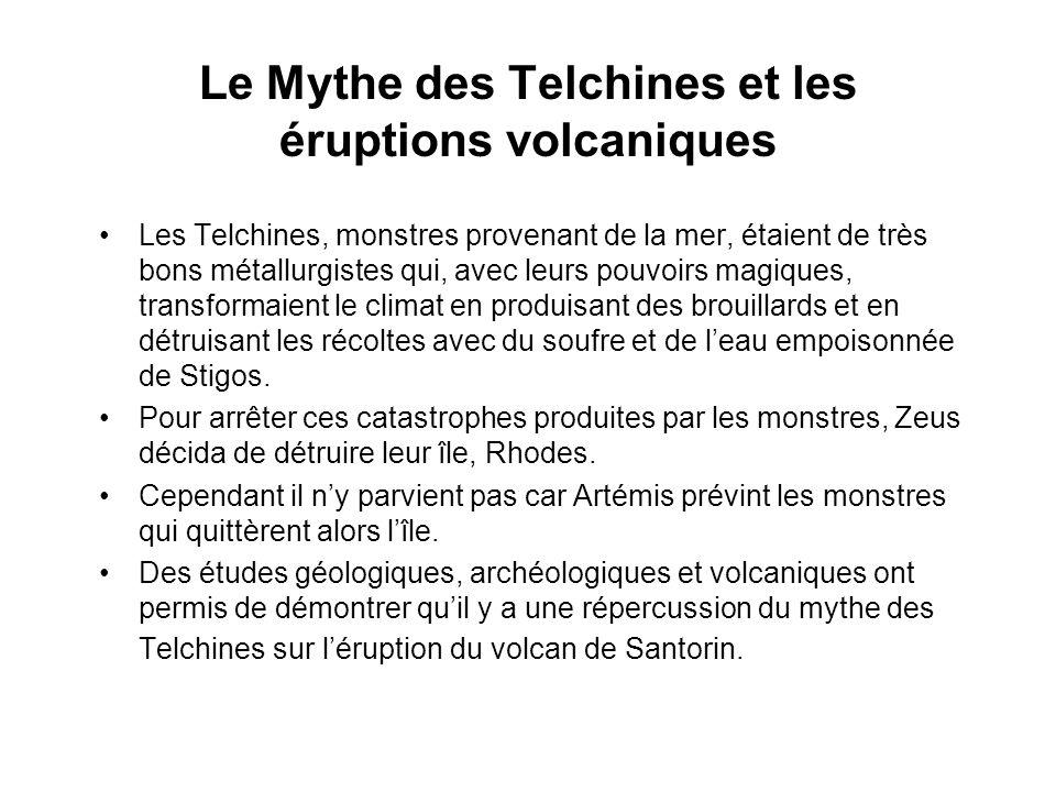 Le Mythe des Telchines et les éruptions volcaniques