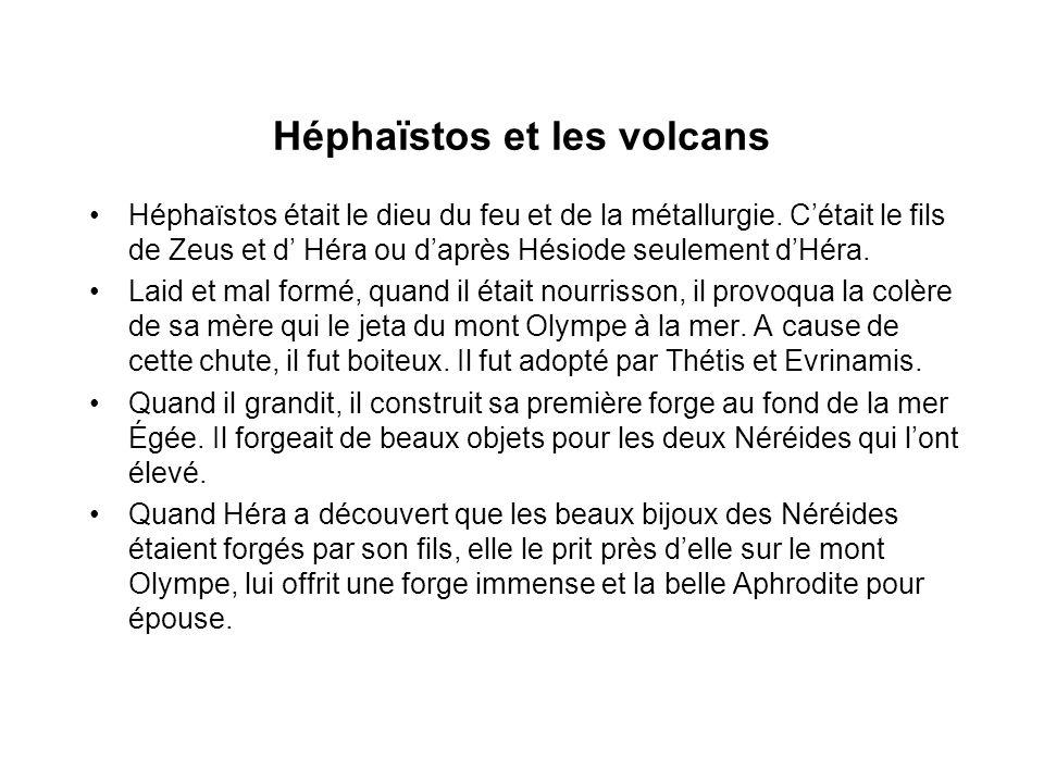 Héphaïstos et les volcans