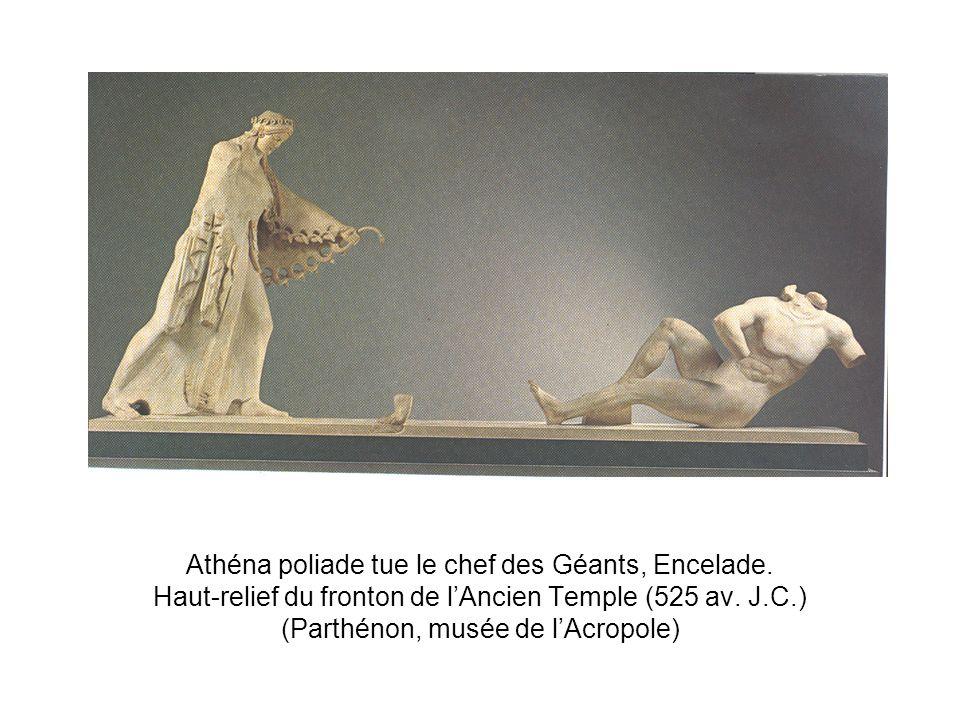 Athéna poliade tue le chef des Géants, Encelade