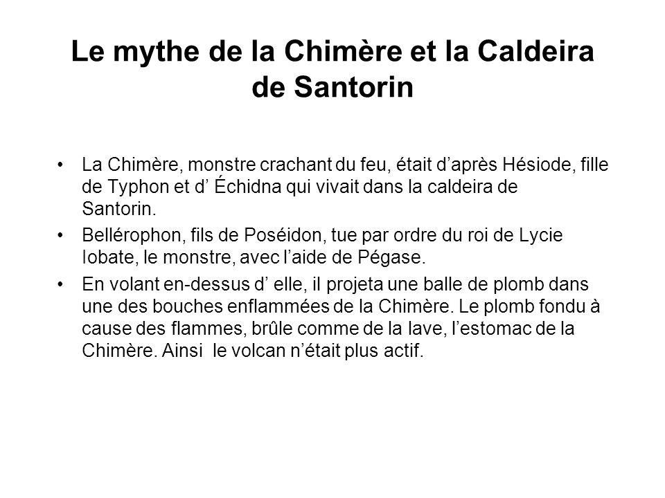 Le mythe de la Chimère et la Caldeira de Santorin
