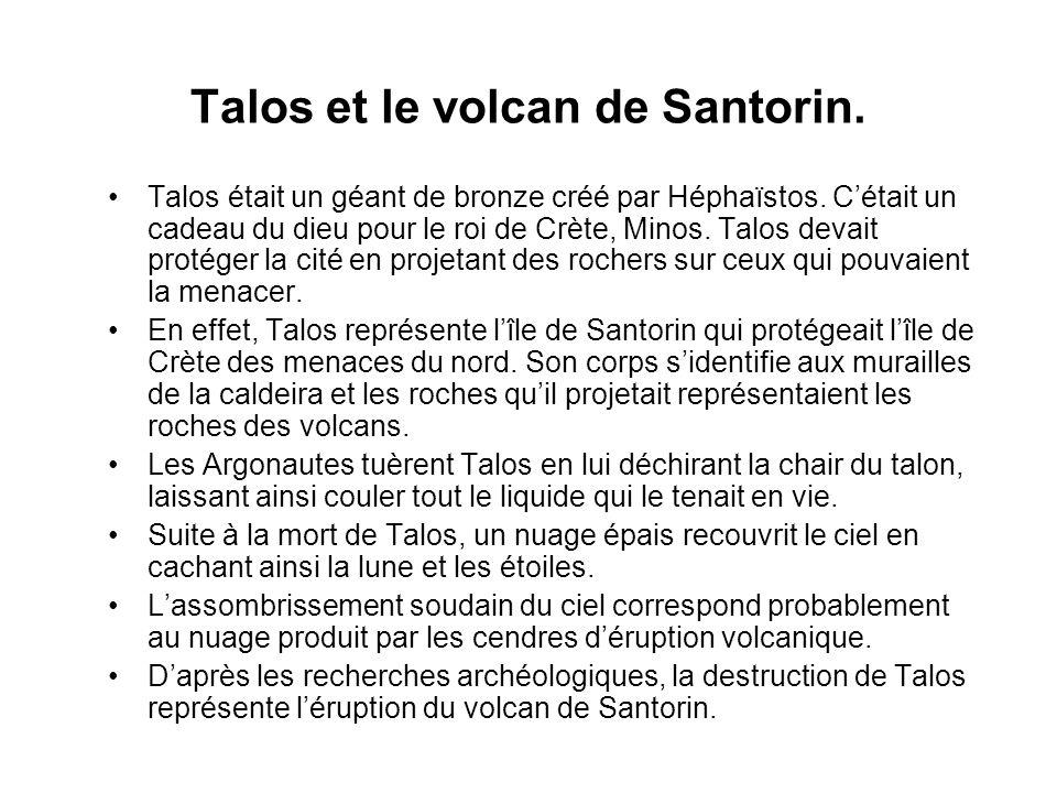 Talos et le volcan de Santorin.