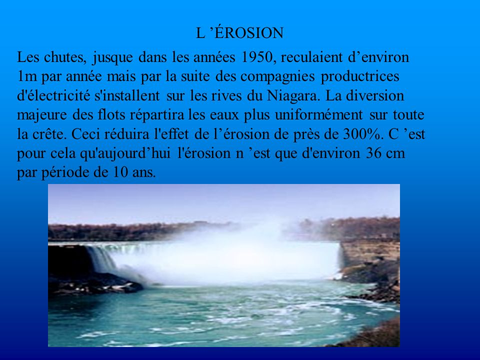 L 'ÉROSION
