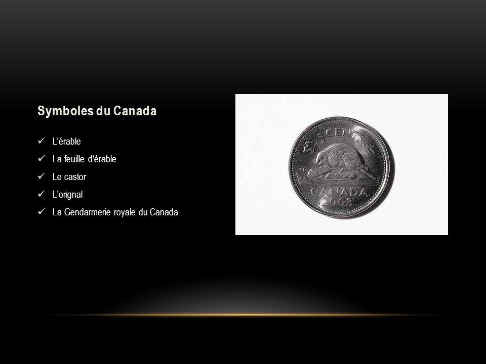 Symboles du Canada L érable La feuille d érable Le castor L orignal