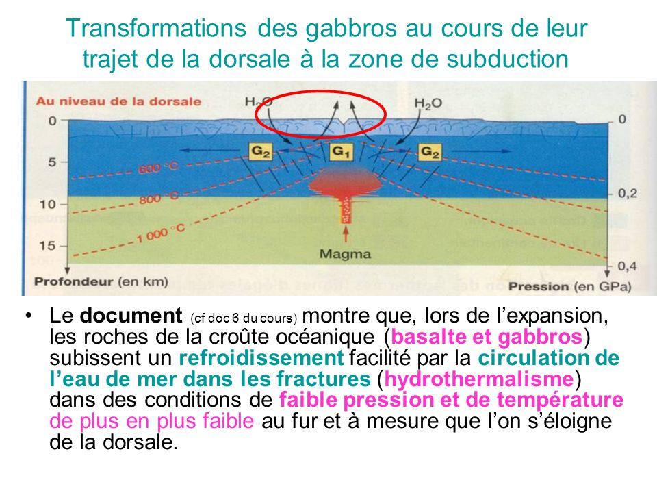 Transformations des gabbros au cours de leur trajet de la dorsale à la zone de subduction