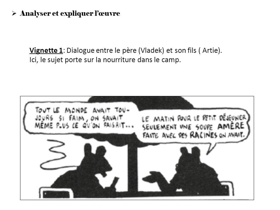 Vignette 1: Dialogue entre le père (Vladek) et son fils ( Artie).