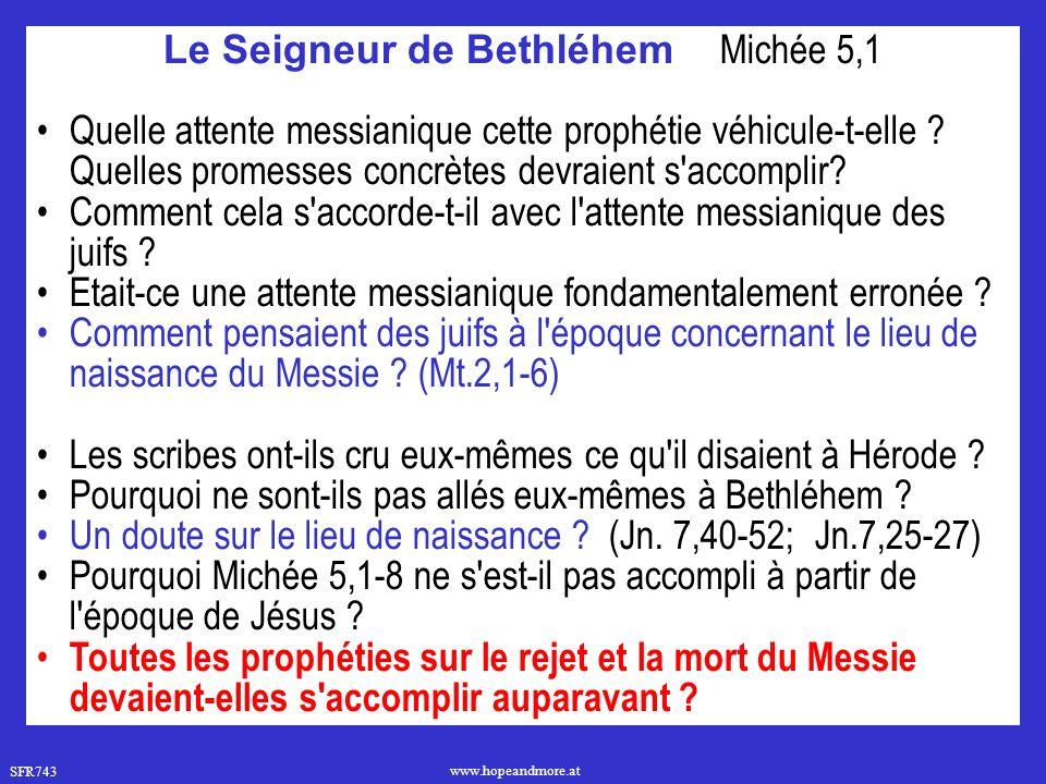 Le Seigneur de Bethléhem Michée 5,1