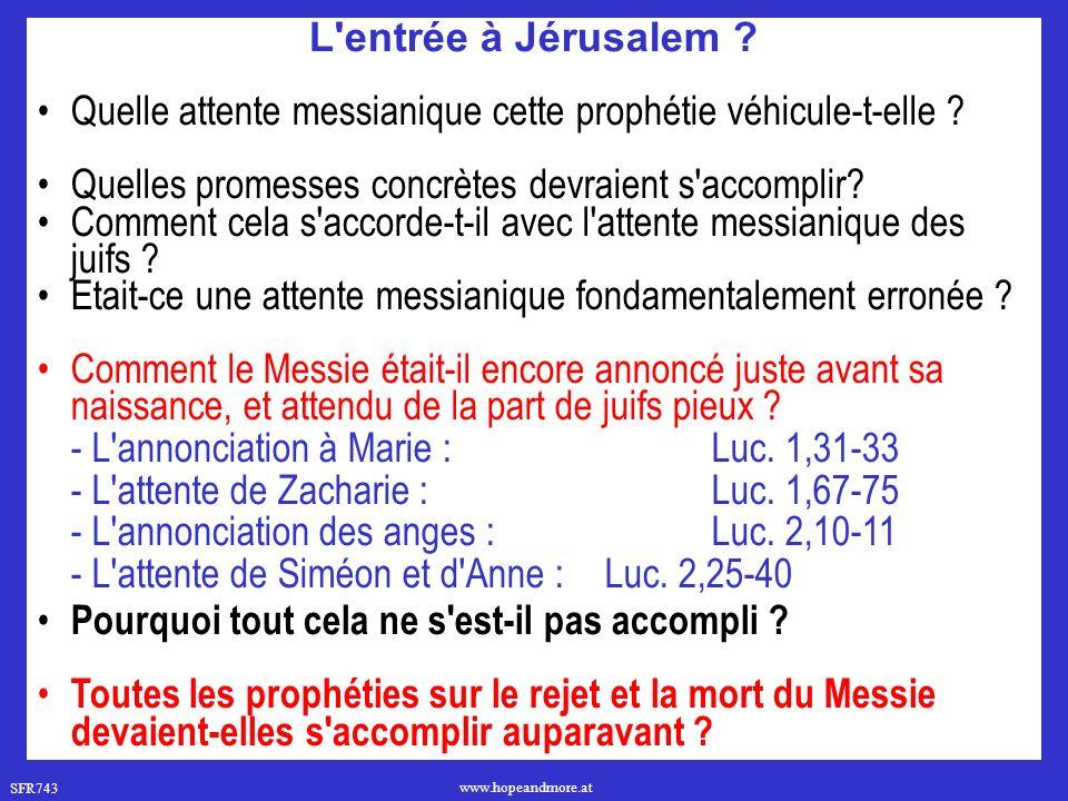 Quelle attente messianique cette prophétie véhicule-t-elle