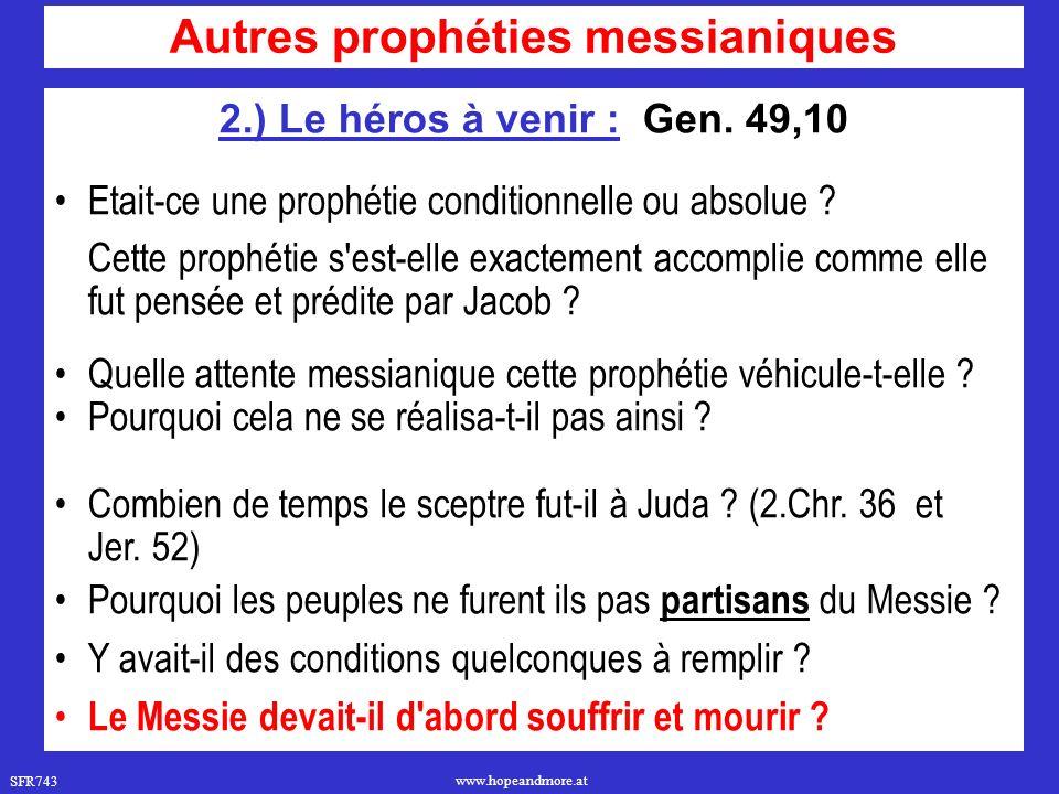 Autres prophéties messianiques
