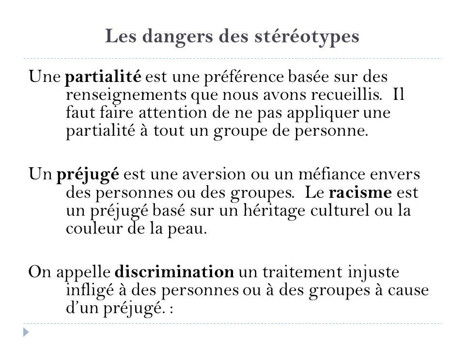 Les dangers des stéréotypes