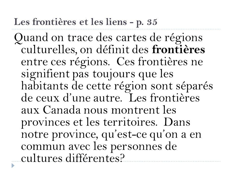 Les frontières et les liens - p. 35