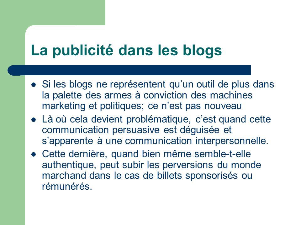 La publicité dans les blogs