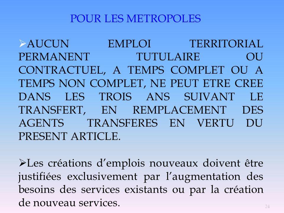 POUR LES METROPOLES