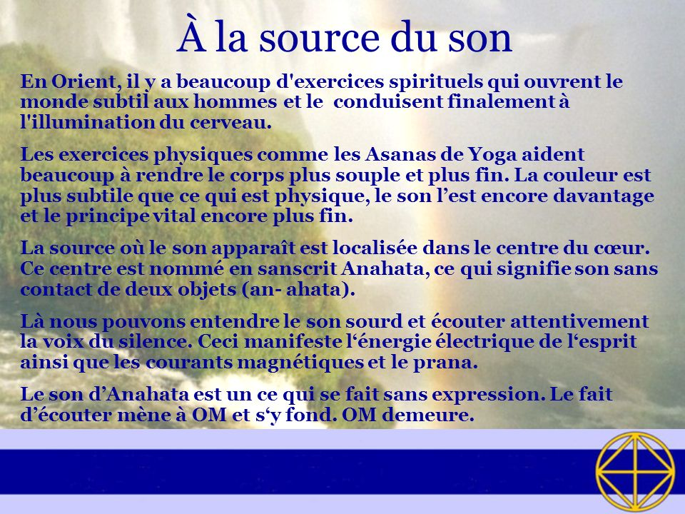 À la source du son