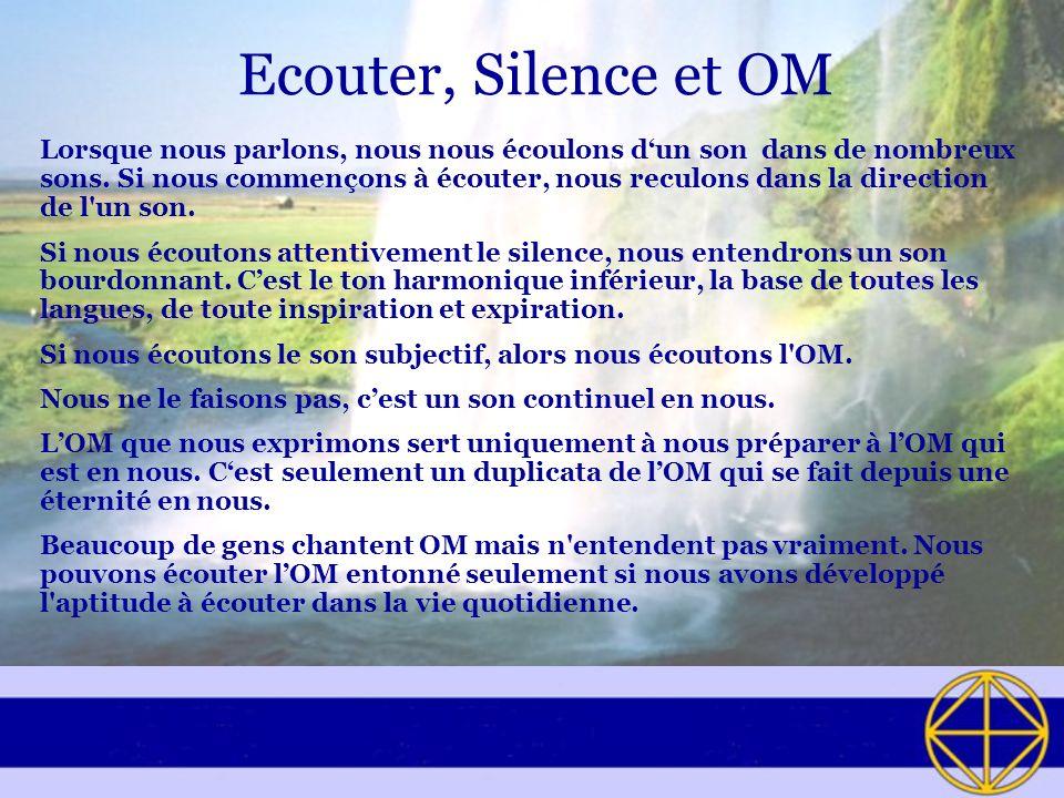 Ecouter, Silence et OM