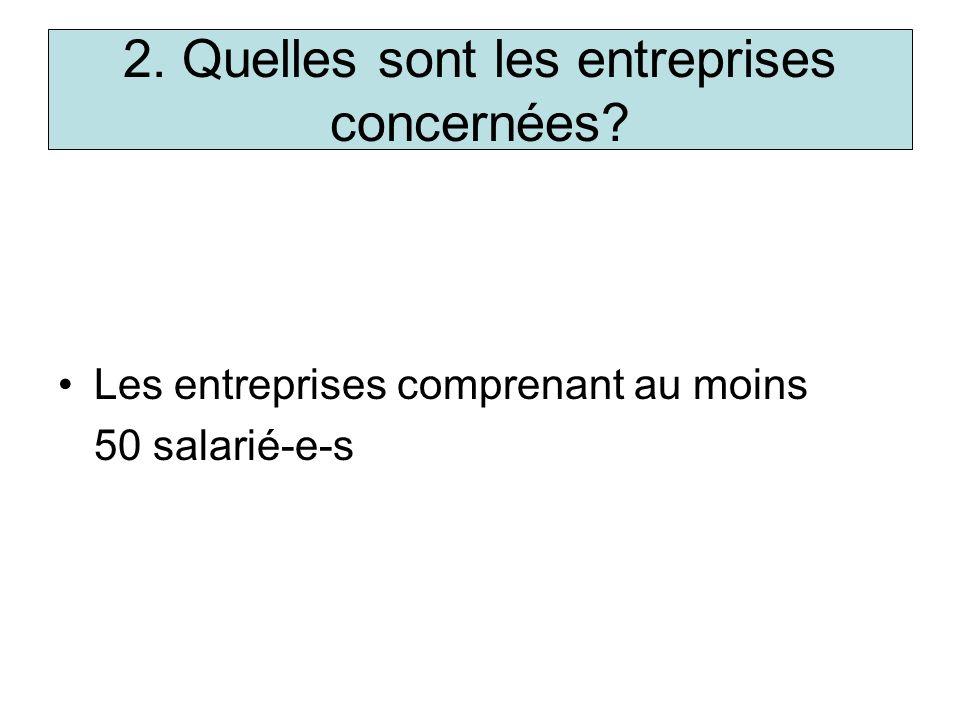 2. Quelles sont les entreprises concernées