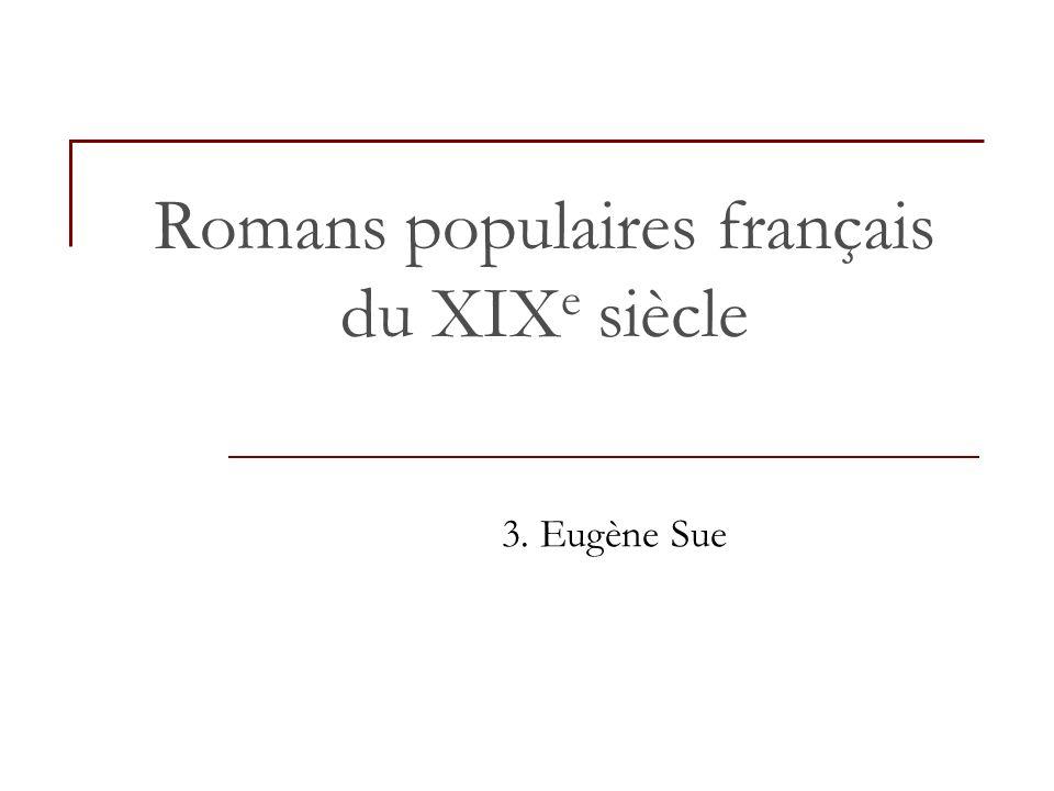 Romans populaires français du XIXe siècle