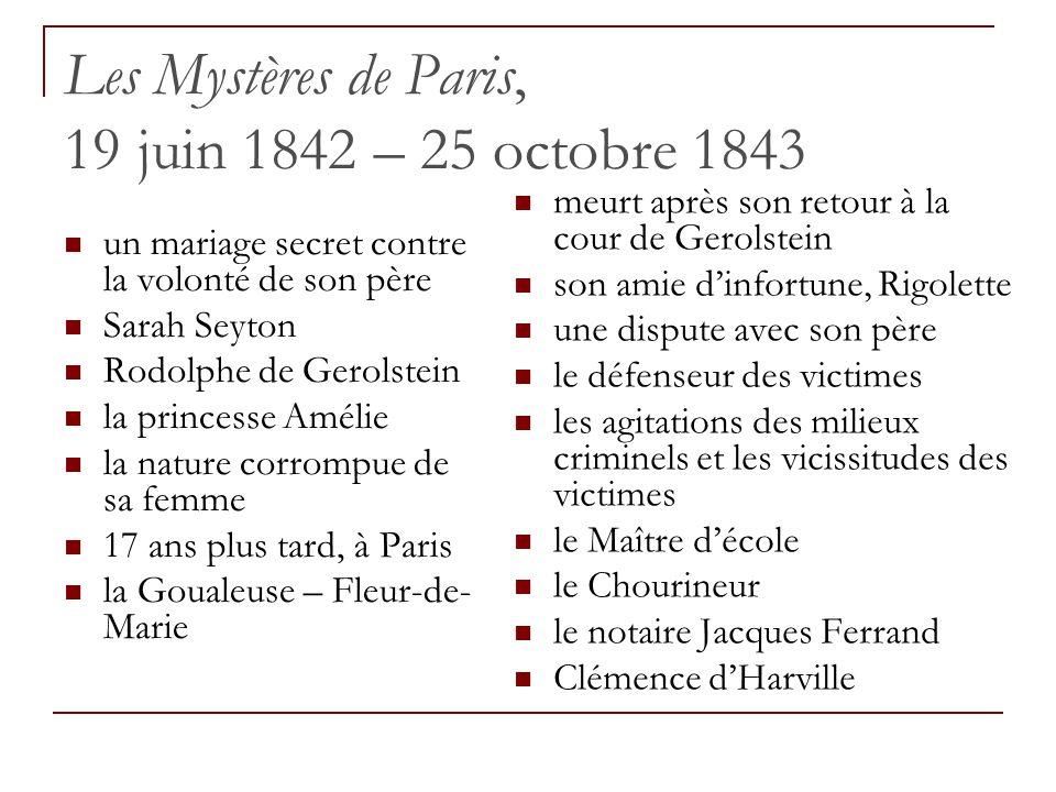 Les Mystères de Paris, 19 juin 1842 – 25 octobre 1843