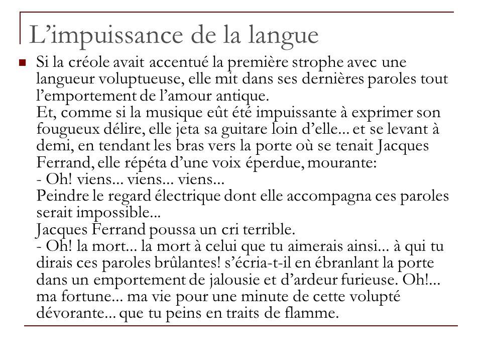 L'impuissance de la langue