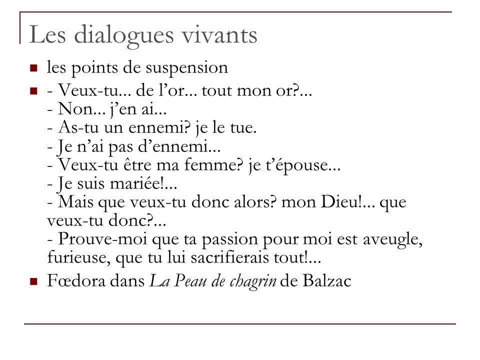 Les dialogues vivants les points de suspension