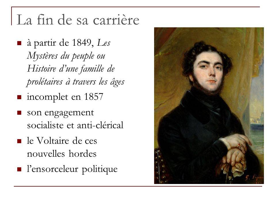 La fin de sa carrière à partir de 1849, Les Mystères du peuple ou Histoire d'une famille de prolétaires à travers les âges.