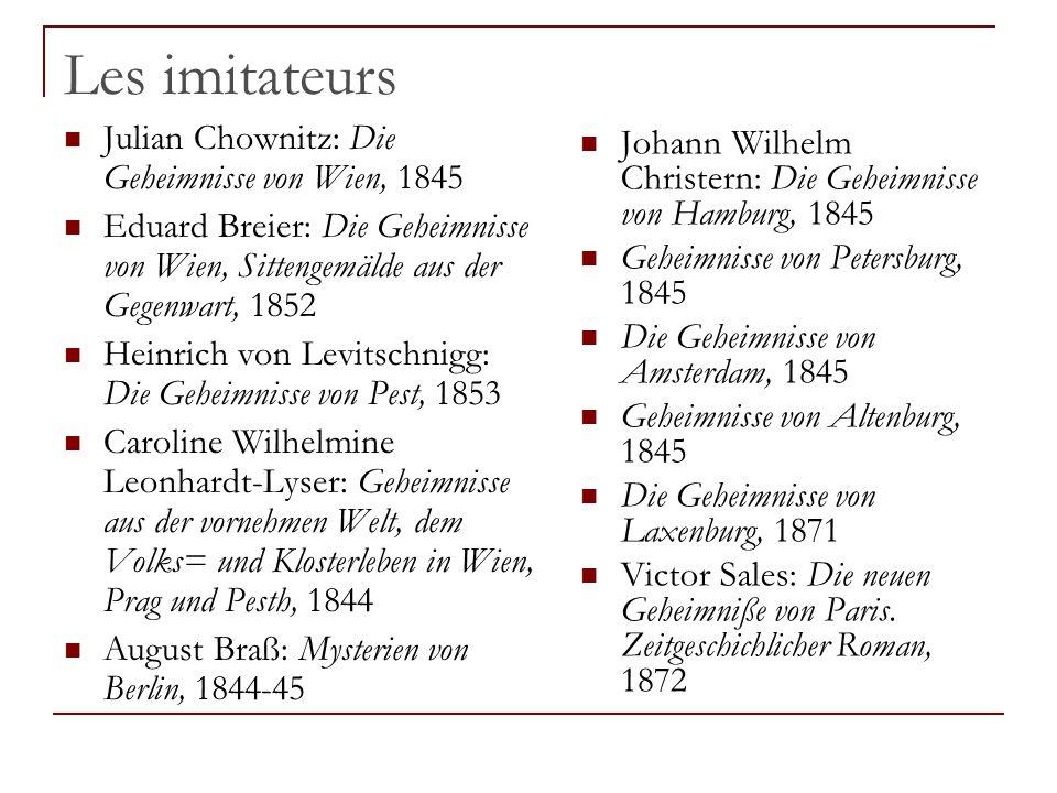 Les imitateurs Julian Chownitz: Die Geheimnisse von Wien, 1845
