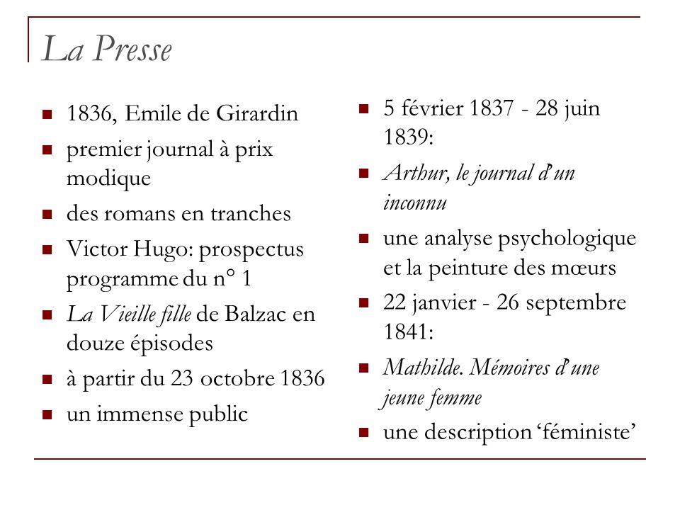 La Presse 5 février 1837 - 28 juin 1839: 1836, Emile de Girardin