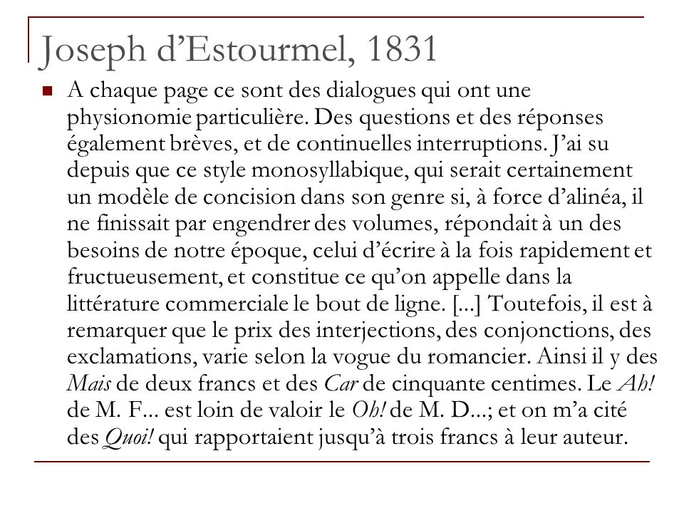 Joseph d'Estourmel, 1831