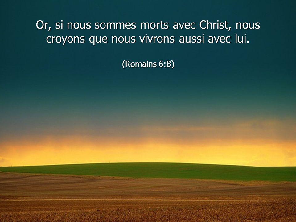 Or, si nous sommes morts avec Christ, nous croyons que nous vivrons aussi avec lui. (Romains 6:8)
