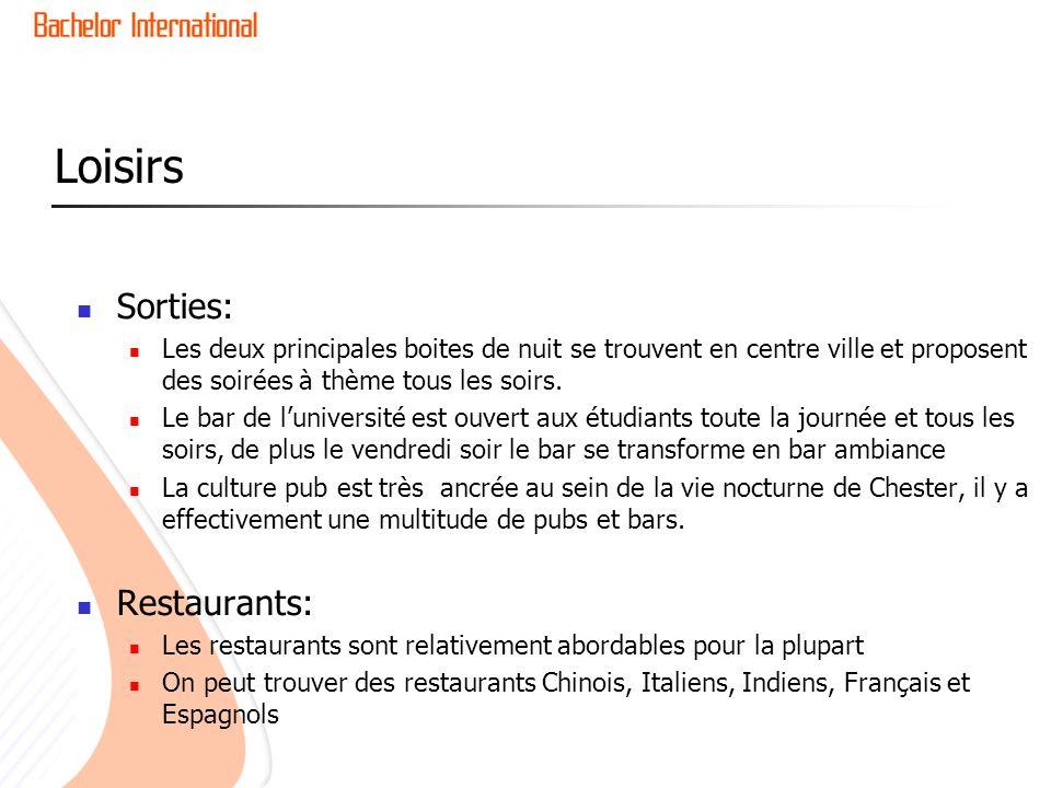 Loisirs Sorties: Restaurants: