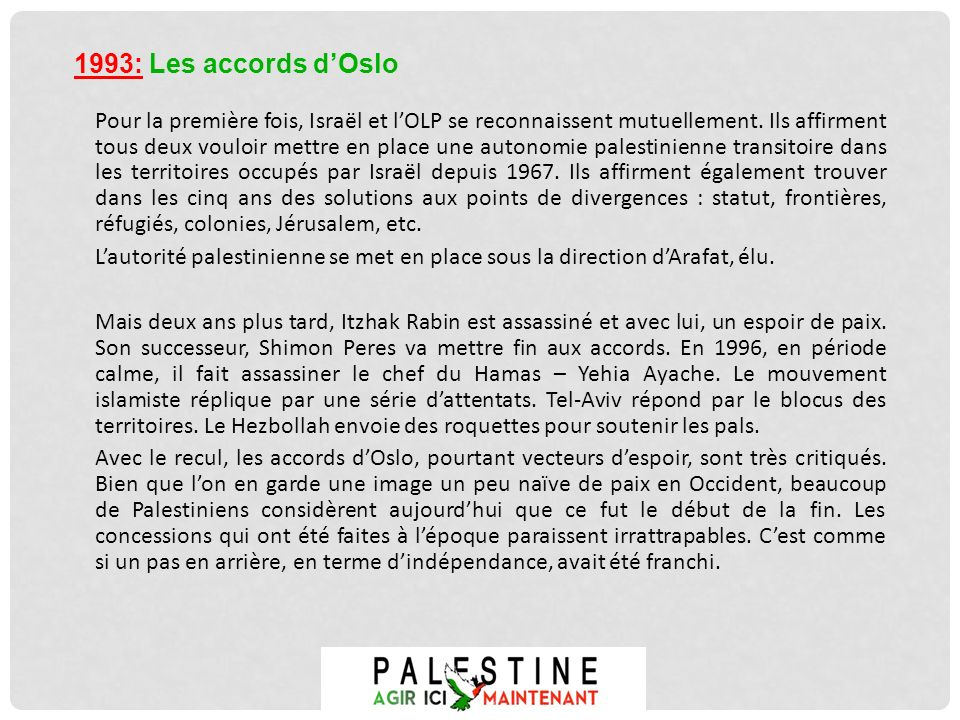 1993: Les accords d'Oslo