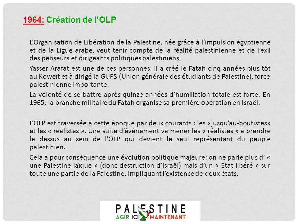 1964: Création de l'OLP