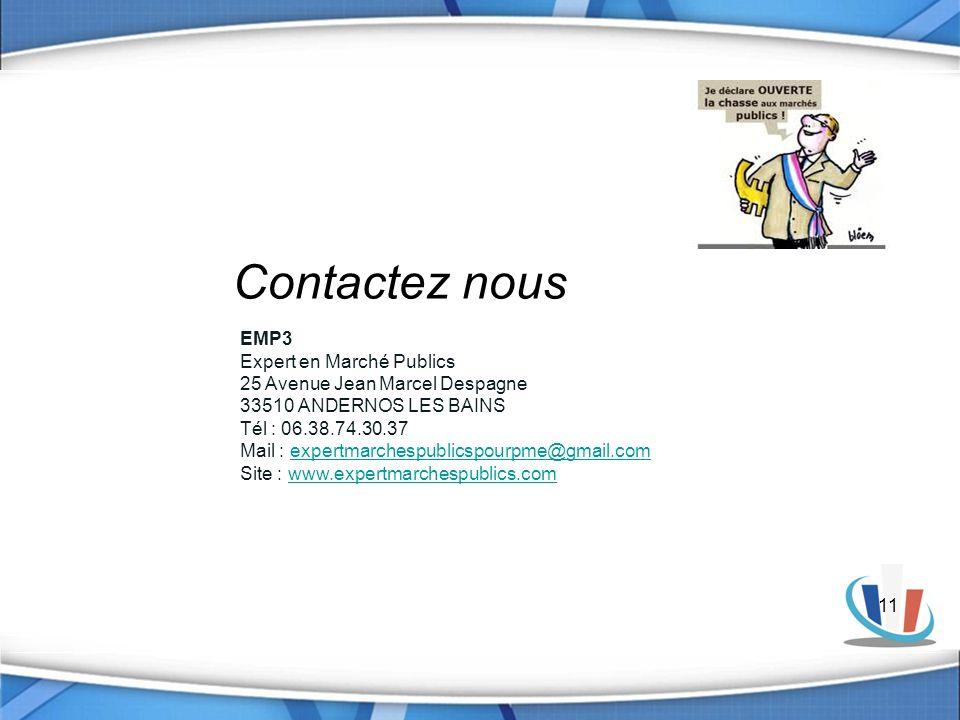 Contactez nous EMP3 Expert en Marché Publics