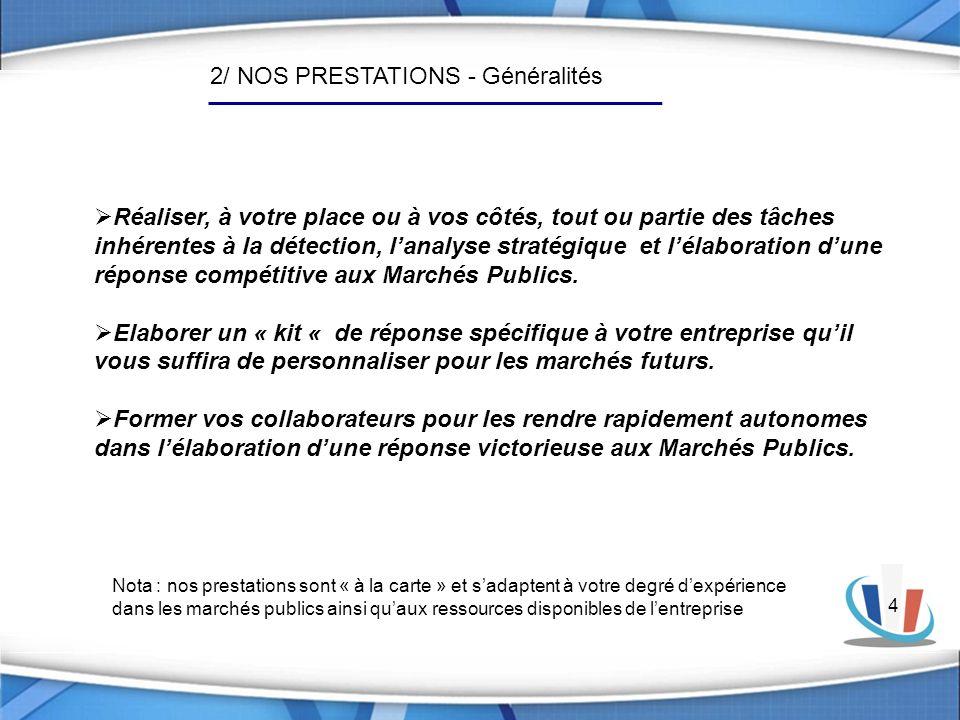 2/ NOS PRESTATIONS - Généralités