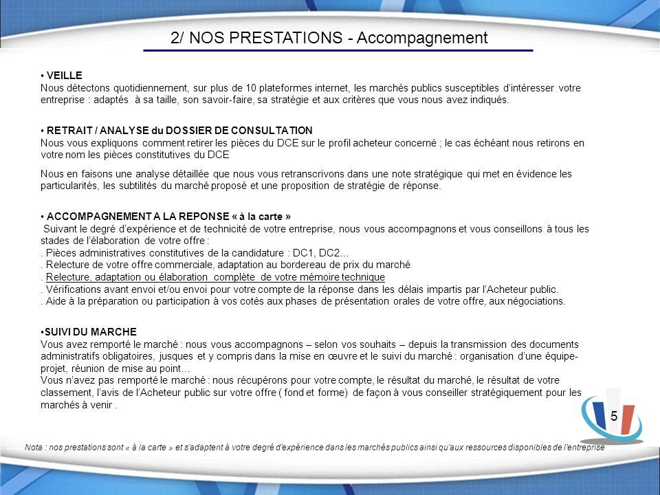 2/ NOS PRESTATIONS - Accompagnement