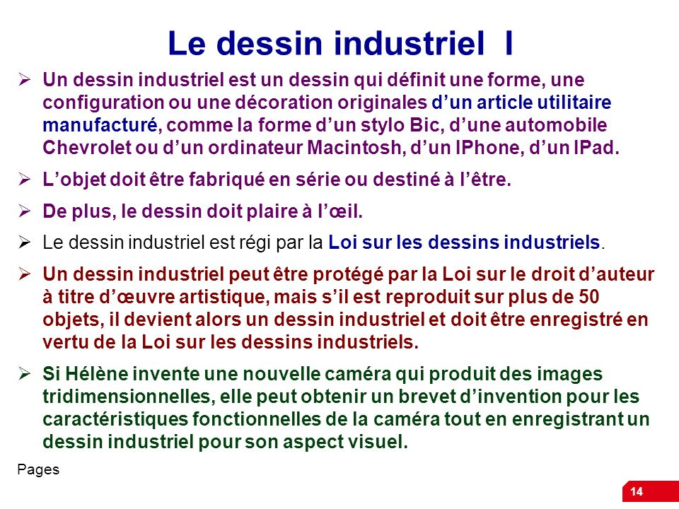 Le dessin industriel I